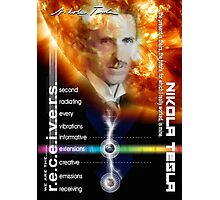 tesla information Photographic Print