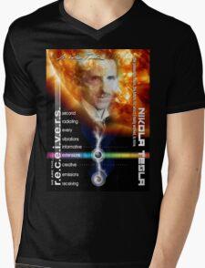 tesla information Mens V-Neck T-Shirt