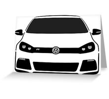 VW MK6 R Half Cut Greeting Card