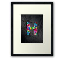 Fun Letter - H Framed Print