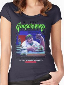Goosebumps - The Girl Who Cried Monster Women's Fitted Scoop T-Shirt