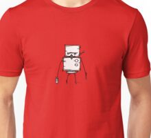 DUD the robot - white BG Unisex T-Shirt