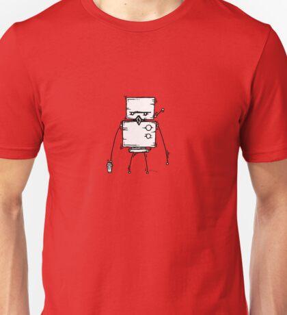 DUD the robot - white BG Unisex T-Shirt