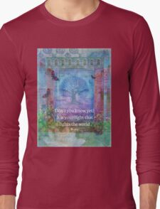 Rumi Inspirational LIGHT quote Long Sleeve T-Shirt