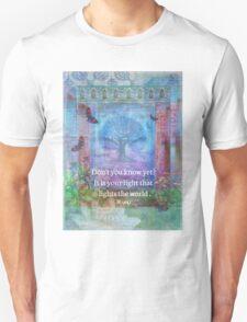Rumi Inspirational LIGHT quote Unisex T-Shirt