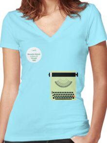 Nizzoli_Lettera22_1/2 Women's Fitted V-Neck T-Shirt
