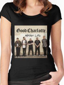 GOOD CHARLOTTE MAKESHIFT LOVE 2016 Women's Fitted Scoop T-Shirt