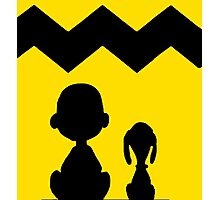 CHARLIE BROWN PEANUTS YELLOW Photographic Print
