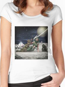Vintage Sci-Fi 2 Women's Fitted Scoop T-Shirt