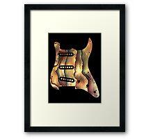 Colorful Guitar Pickguard  Framed Print