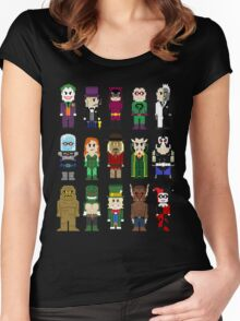 8-Bit Super Heroes: ROGUES! Women's Fitted Scoop T-Shirt