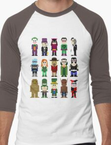 8-Bit Super Heroes: ROGUES! Men's Baseball ¾ T-Shirt
