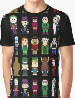 8-Bit Super Heroes: ROGUES! Graphic T-Shirt