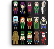 8-Bit Super Heroes: ROGUES! Metal Print