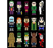 8-Bit Super Heroes: ROGUES! Photographic Print