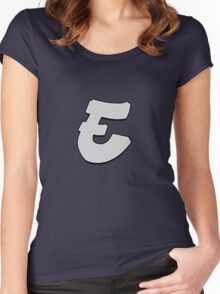 Letter E Women's Fitted Scoop T-Shirt