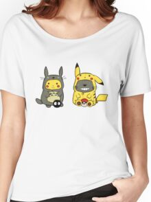 totoro and pikachu Women's Relaxed Fit T-Shirt