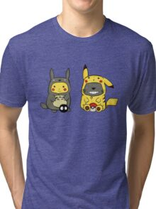 totoro and pikachu Tri-blend T-Shirt