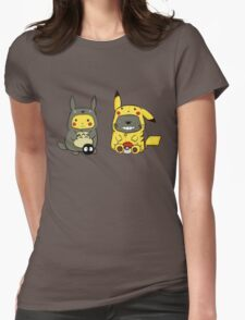 totoro and pikachu Womens Fitted T-Shirt
