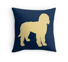 Golden Doodle Silhouette Throw Pillow