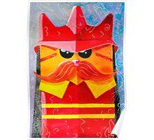 Cat Fireman Poster