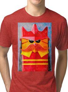 Cat Fireman Tri-blend T-Shirt