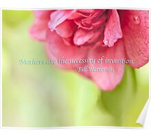 Mothers Day Camellia Quote Poster