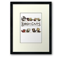 lord of the cat Framed Print