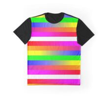 Rainbow distortion Graphic T-Shirt