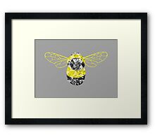 Patchwork Busy Bee Framed Print