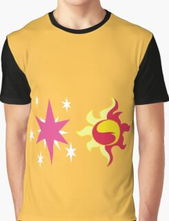 My little Pony - Sunset Shimmer + Twilight Sparkle Cutie Mark Graphic T-Shirt