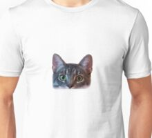 cat peeking Unisex T-Shirt