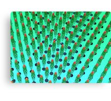 what the hey, it's green matrix day Canvas Print