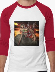 Vintage Sci-Fi 4 Men's Baseball ¾ T-Shirt