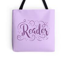 Reader (word in purple) Tote Bag