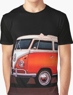 Volkswagen T1 Samba Painting Graphic T-Shirt