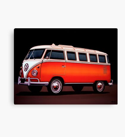 Volkswagen T1 Samba Painting Canvas Print