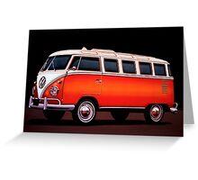 Volkswagen T1 Samba Painting Greeting Card