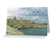Old fortress in Valletta Greeting Card