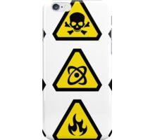 Danger signs iPhone Case/Skin