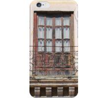 Balcony With Red Door iPhone Case/Skin
