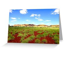 Under A Big Sky - Chichester Rangers, Pilbara Greeting Card