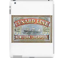 TIR - Vintage Posters - Cunard iPad Case/Skin