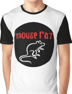 Mouse Rat Circle Graphic T-Shirt