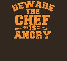 BEWARE THE CHEF IS ANGRY with tongs distressed Unisex T-Shirt