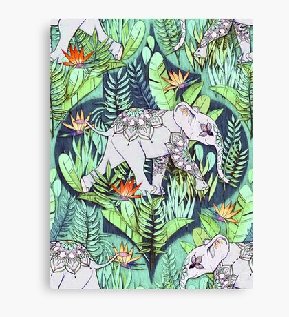 Little Elephant on a Jungle Adventure – faded vintage version Canvas Print