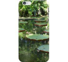 Water Lilies, Botanic Garden, Mauritius iPhone Case/Skin