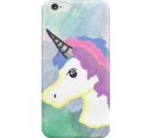 Unicorn with watercolor iPhone Case/Skin