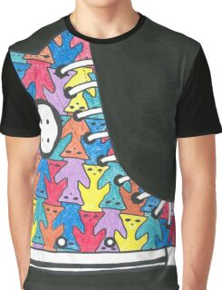 Pete the Cat Loves His Groovy Multi-Colored Shoes Graphic T-Shirt