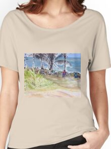 Artists by the Sea, Flying Fish Point  Women's Relaxed Fit T-Shirt